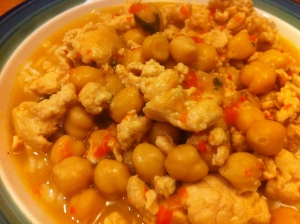 This Tuesday Dinner: Cilantro Chicken Chili with Chickpeas