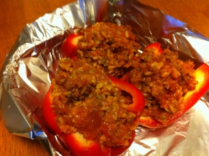 Eat The Freezer: Stuffed Peppers