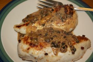 Thursday dinner: Creamy chicken marsala with pancetta & herbed parmesan orzo