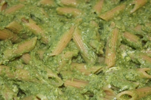 Tuesday dinner: Penne with kale pesto