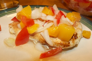 Monday dinner: Buttermilk chicken with peach-tomato salsa | Al Dente ...
