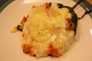 Monday dinner: Stuffed poblano peppers