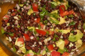 Al Dente on the side: Black bean salad