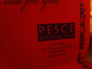 Pesce Seafood Bar: San Francisco