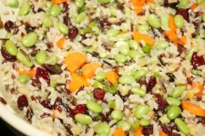 Al Dente On The Side: Edamame and wild rice salad