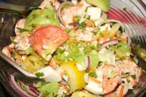 Thursday dinner: Lime shrimp salad