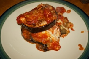 Meatless Monday II: Eggplant, mozzarella, and saffron rice bake