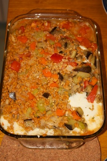 Wednesday dinner: Baked orzo with eggplant and mozzarella ...