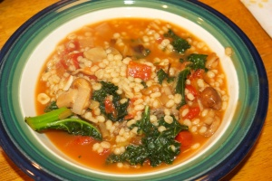 Meatless Monday: Barley stew with leeks, mushrooms and greens