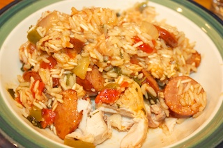 Wednesday dinner: Portuguese chicken and rice