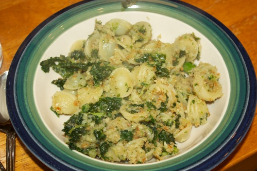 Meatless Monday: Orecchiette with kale and breadcrumbs