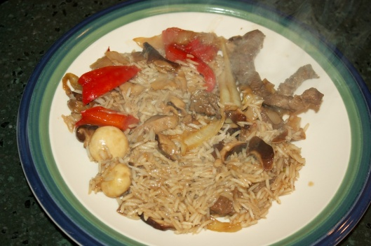Tuesday dinner: Dashi beef and mushrooms