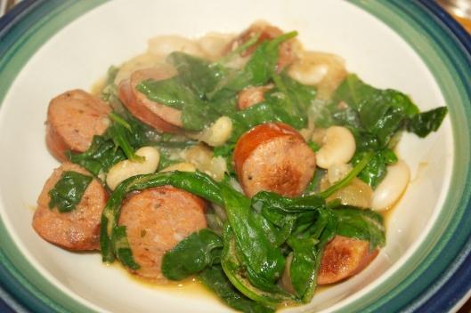 Wednesday dinner: Chorizo white bean stew