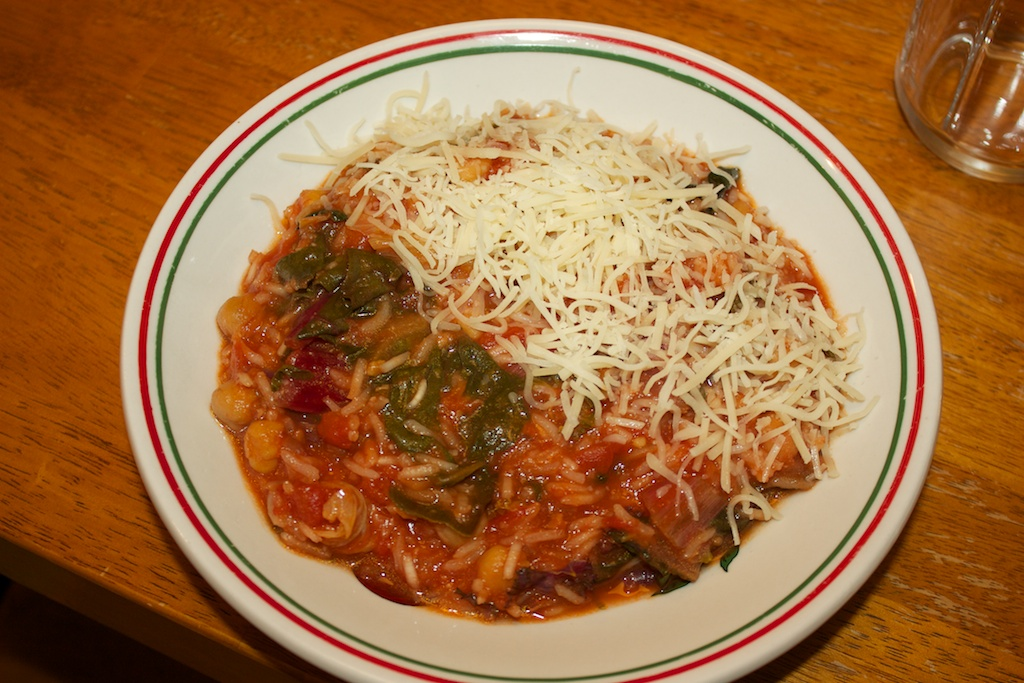 ... Monday: Tomato-chickpea soup with Swiss chard and rice | Al Dente