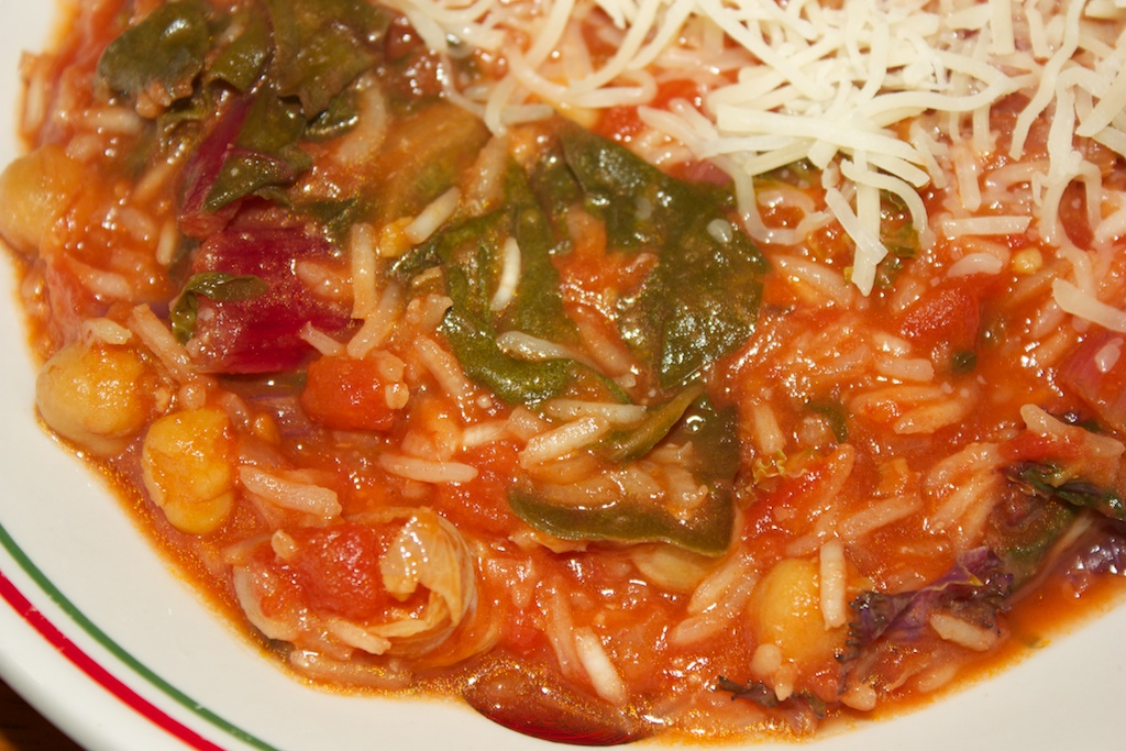 Meatless Monday: Tomato-chickpea soup with Swiss chard and rice | Al ...
