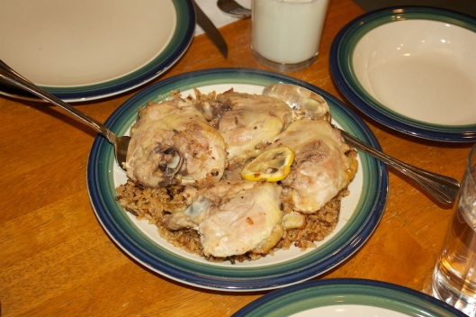 Wednesday dinner: Roasted chicken thighs with lemon