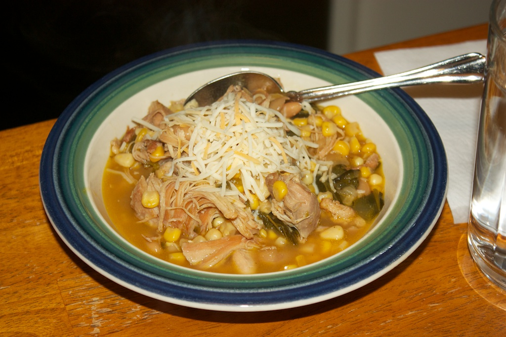 Thursday dinner: Chicken and poblano white chili