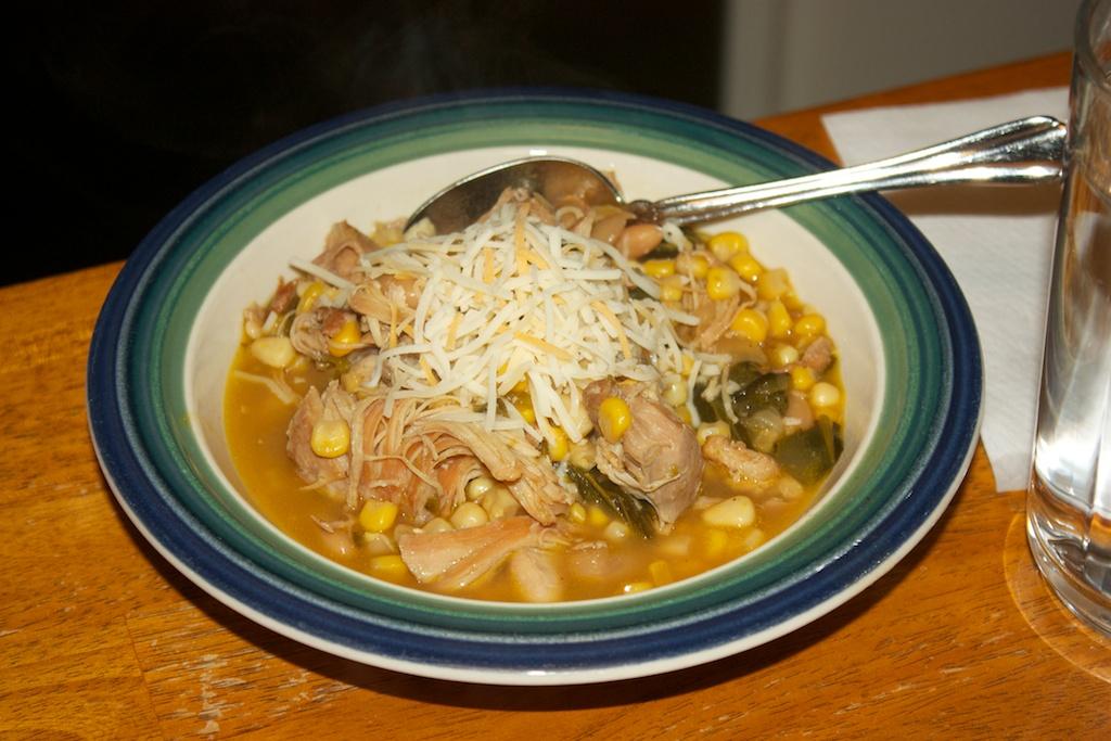 Thursday dinner: Chicken and poblano white chili