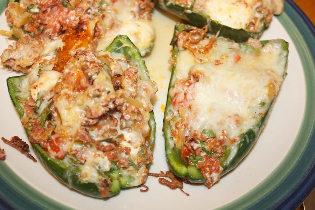 Tuesday dinner: Chorizo stuffed peppers