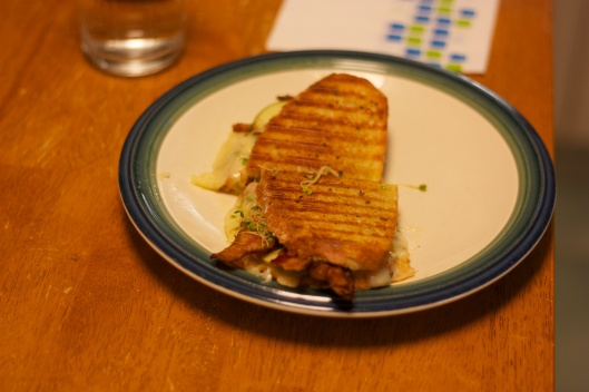 Panini Sunday: Grilled Cheese with Bacon and Apples