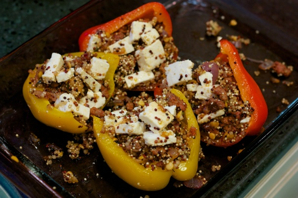 Meaty Monday: Chorizo and Quinoa Stuffed Peppers