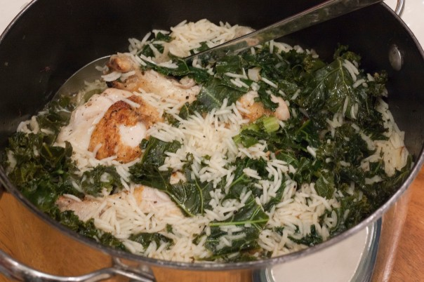 Thursday Dinner: Lemon Chicken and Rice With Kale