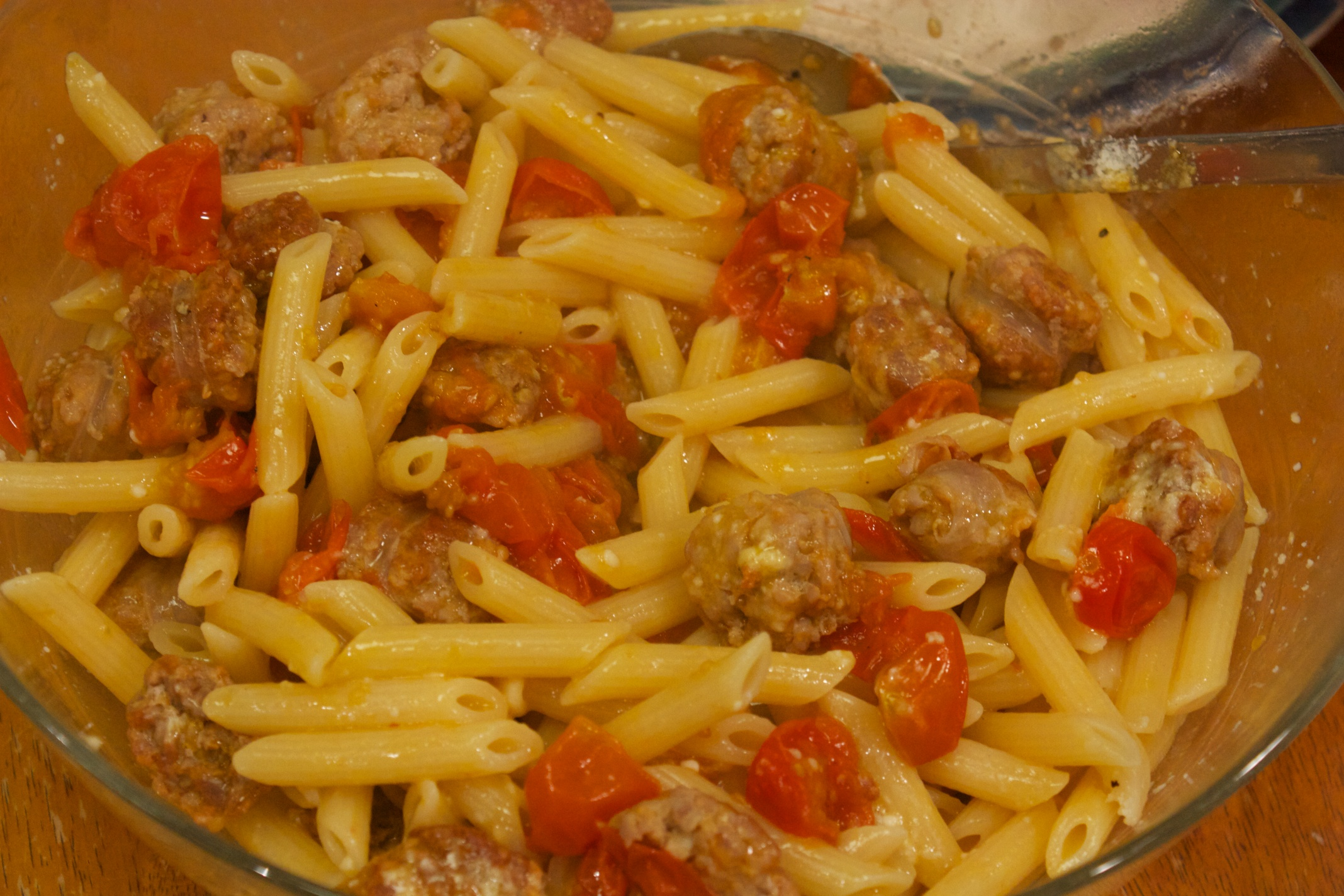 Meaty Monday: Pasta with Caramelized Tomatoes and Sausage | Al Dente