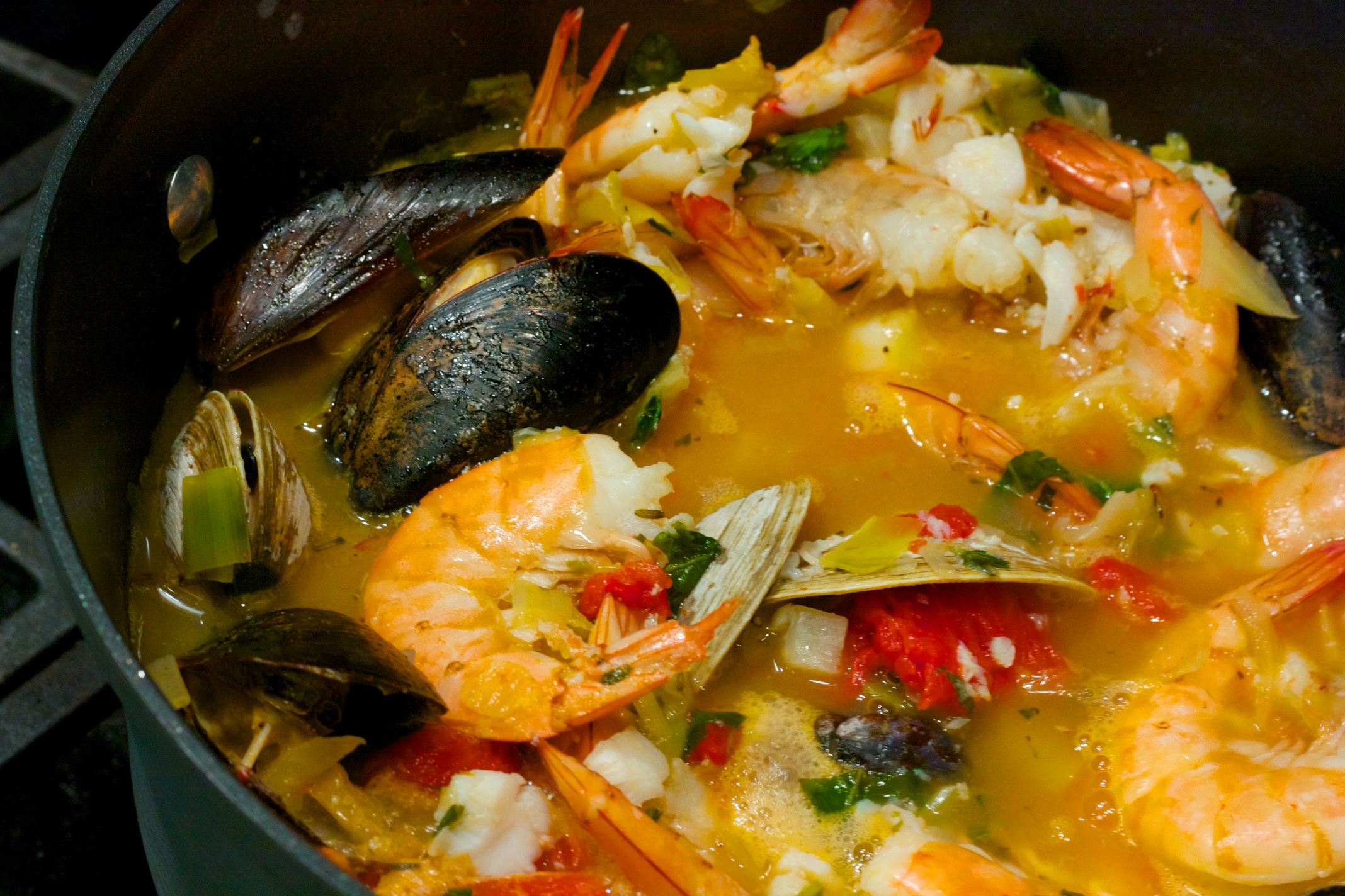 saturday dinner mediterranean fish stew al dente a