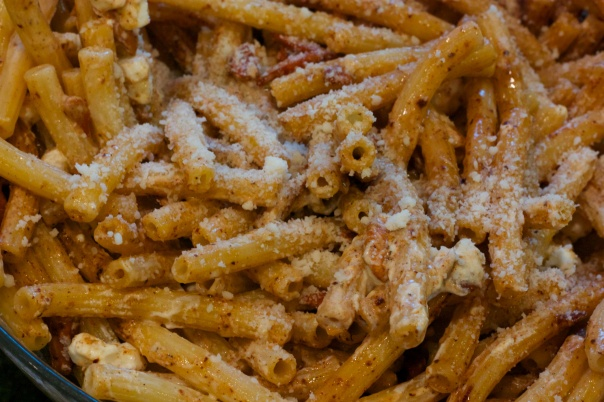 Meatless Monday: Pasta with Brown Butter, Almonds and Goat Cheese