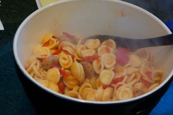 Last Week's Dinner: Orecchiette with Fennel & Sausage