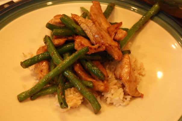 Last Week's Dinner: Stir-Fry Pork and String Beans