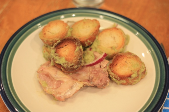 Monday Dinner: Roasted Chicken Thighs with Asparagus Panzanella