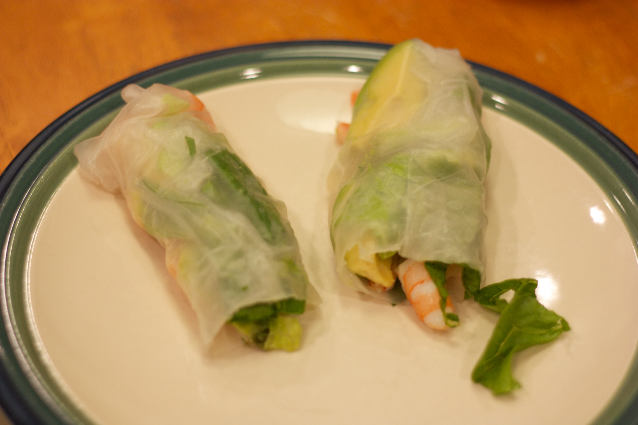 Tuesday Dinner: Shrimp Summer Roll
