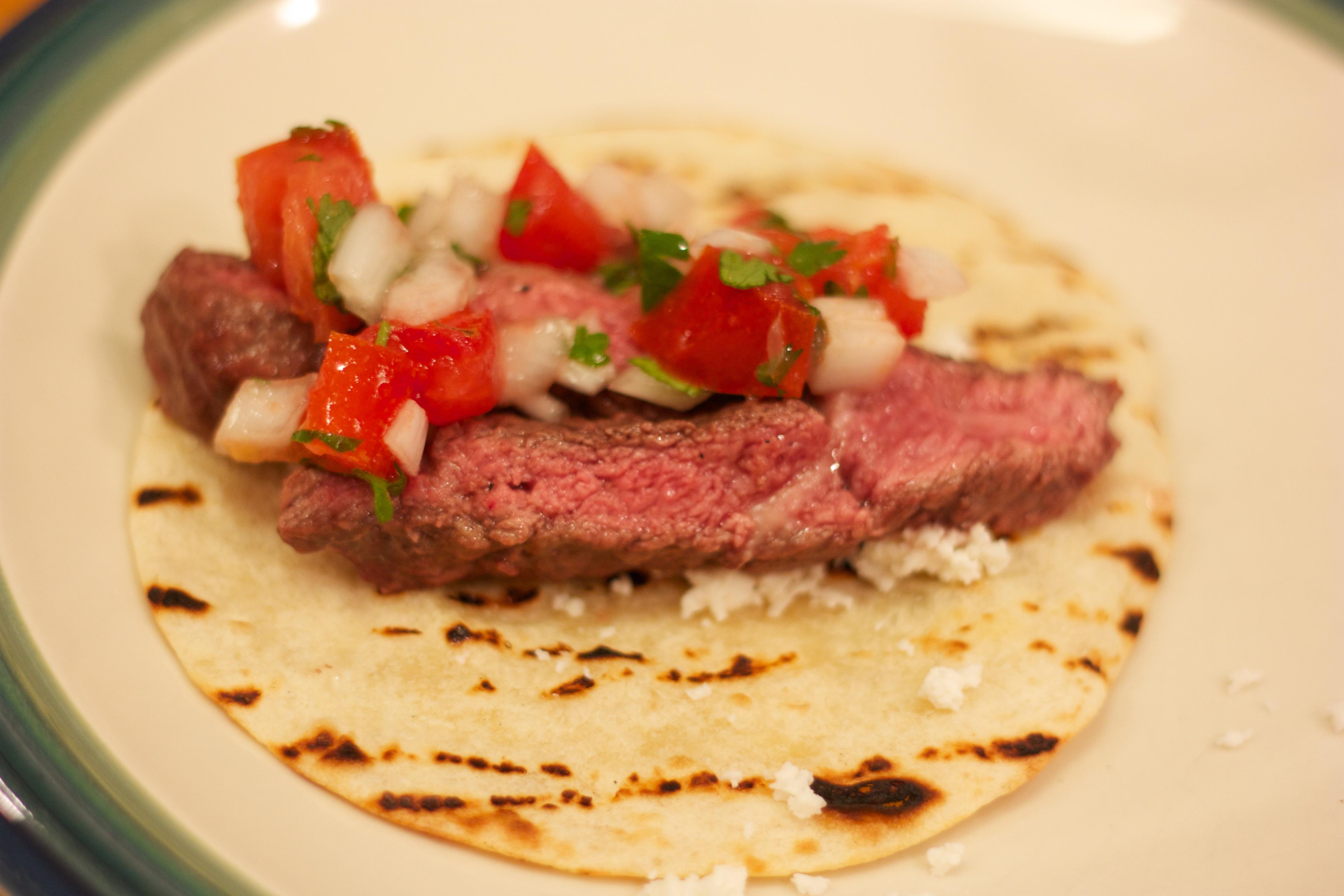 Saturday Dinner: Carne Asada Tacos (or Tacos Con Carne Asada)