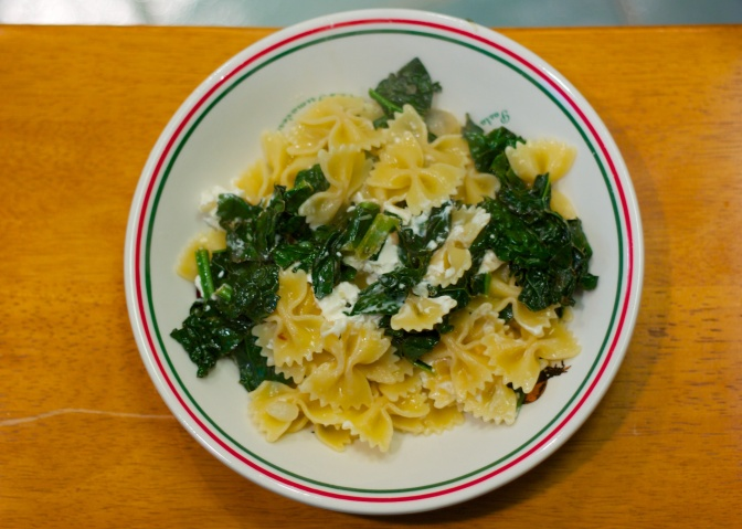 Meatless Monday: Lemon Pasta with Kale and Goat Cheese