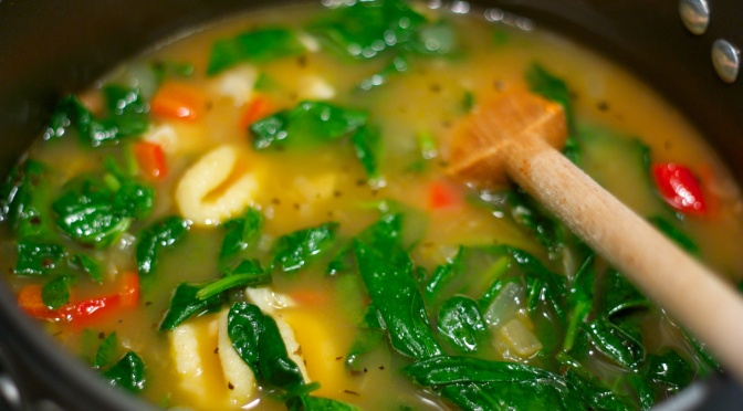 Meatless Monday: Gnocchi and Spinach Soup