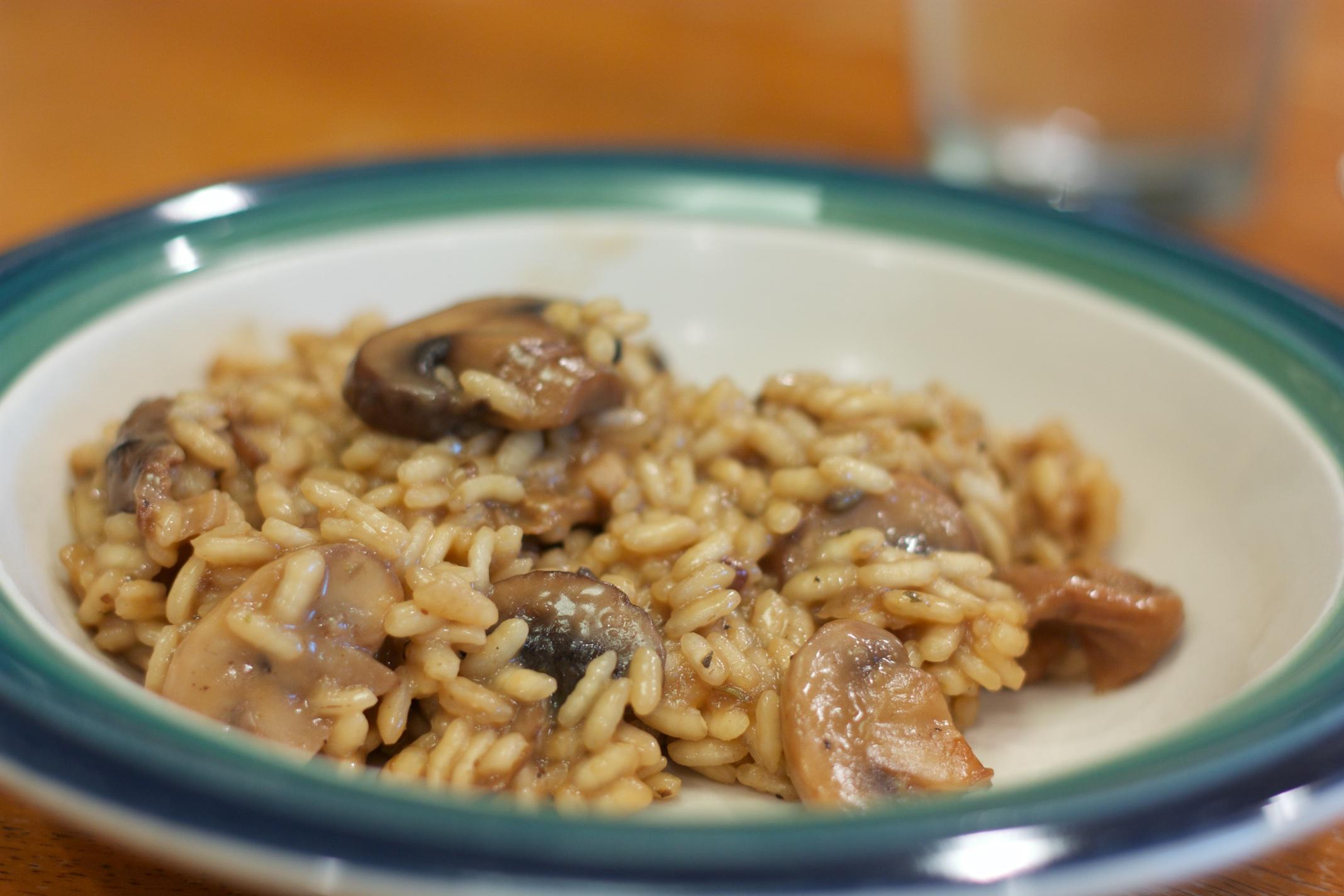 Thursday Dinner: Mushroom Risotto