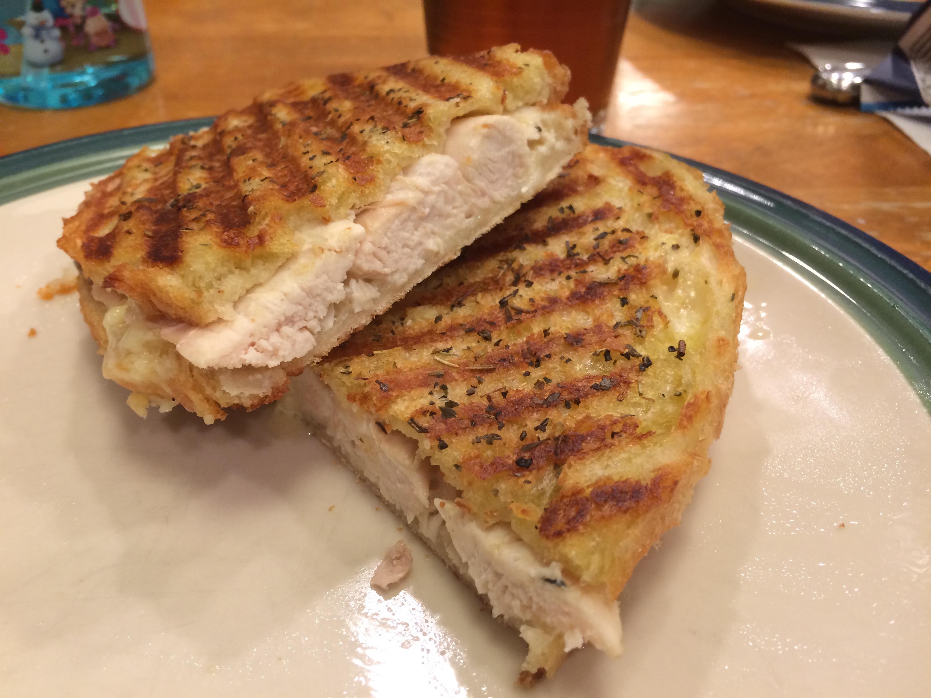 Panini Sunday: Chicken and Brie